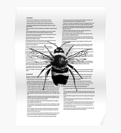Bumble Bee On Text Poster