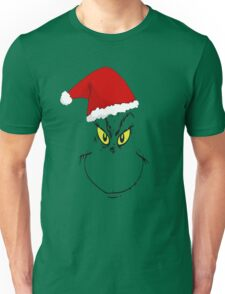 Grinch smile with hat Unisex T-Shirt