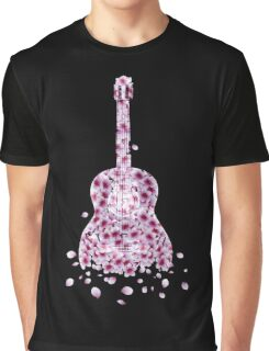 Flowers Guitar - pink Graphic T-Shirt