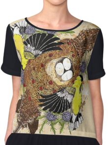 Fox and the Cradle Chiffon Top