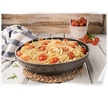 Spaghetti pasta with tomatoes Poster