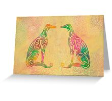Lottinky Greyhounds - Summer Garden Greeting Card