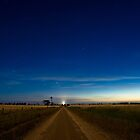 Country Road by Moonlight. by Murray Wills
