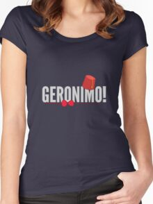 Doctor Who Geronimo! Women's Fitted Scoop T-Shirt
