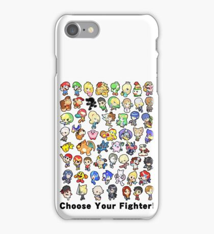 Super Smash Bros. All 58 Characters! Choose Your Fighter!! iPhone Case/Skin