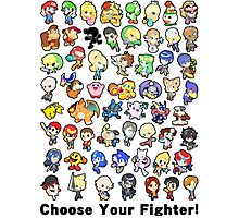 Super Smash Bros. All 58 Characters! Choose Your Fighter!! Photographic Print