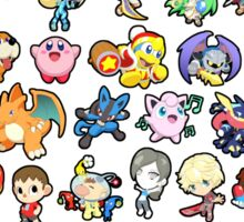 Super Smash Bros. All 58 Characters! Choose Your Fighter!! Sticker