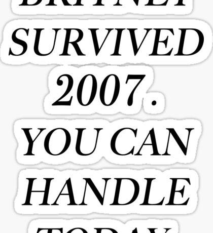 Britney Spears 2007 Sticker