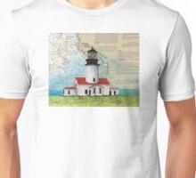 Cape Flattery Lighthouse WA Map Cathy Peek Art Unisex T-Shirt