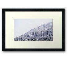 White Landscape Framed Print