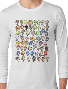 Super Smash Bros. All 58 Characters!! Long Sleeve T-Shirt