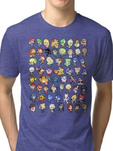 Super Smash Bros. All 58 Characters!! Tri-blend T-Shirt