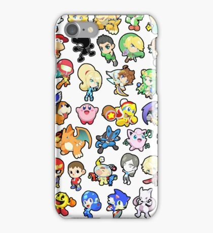 Super Smash Bros. All 58 Characters!! iPhone Case/Skin