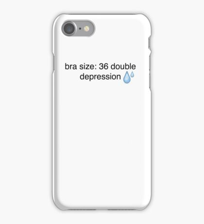 what's your bra size? iPhone Case/Skin