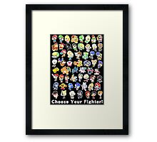 Super Smash Bros. All 58 Characters! Choose Your Fighter! Framed Print