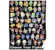 Super Smash Bros. All 58 Characters! Choose Your Fighter! Poster