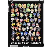 Super Smash Bros. All 58 Characters! Choose Your Fighter! iPad Case/Skin