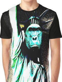harambe statue of liberty mash up Graphic T-Shirt