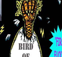 Bird of Steel Comix Cover - Red Bubble -NEW  UNDERGROUND POP ART SERIES! Sticker