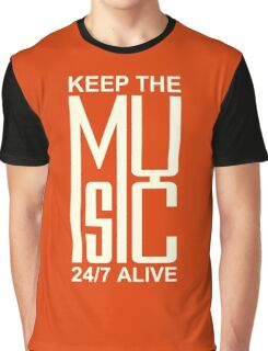 Keep The Music white color Graphic T-Shirt