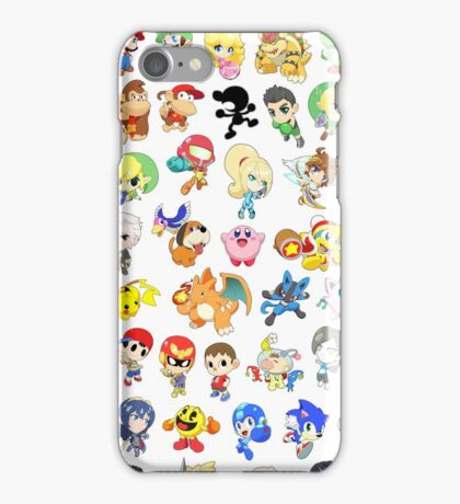 Super Smash Bros. All 58 Characters!  iPhone Case/Skin