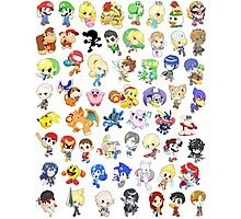 Super Smash Bros. All 58 Characters!  Photographic Print