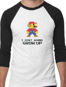 Mario - I Don't Wanna Grow Up Men's Baseball ¾ T-Shirt
