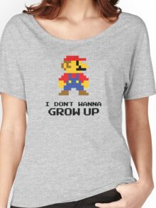 Mario - I Don't Wanna Grow Up Women's Relaxed Fit T-Shirt