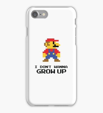 Mario - I Don't Wanna Grow Up iPhone Case/Skin