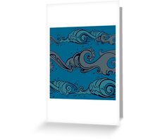 Blue Wave Blue Greeting Card