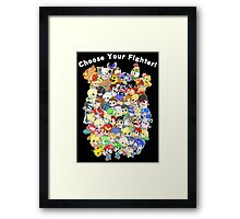 Super Smash Bros. All 58 Characters! Choose Your Fighter! Group Framed Print