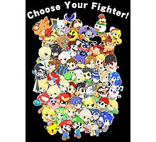 Super Smash Bros. All 58 Characters! Choose Your Fighter! Group Photographic Print