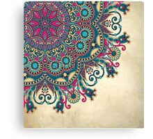 coloured mandala Canvas Print
