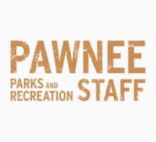 Pawnee Parks & Recreation Department Staff Shirt Kids Clothes
