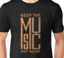 Keep The Music rusty metal Unisex T-Shirt