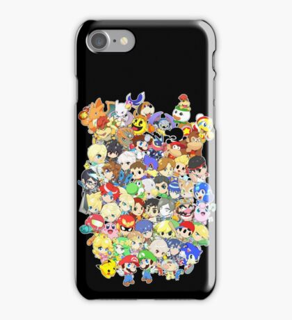 Super Smash Bros. All 58 Characters! Group iPhone Case/Skin