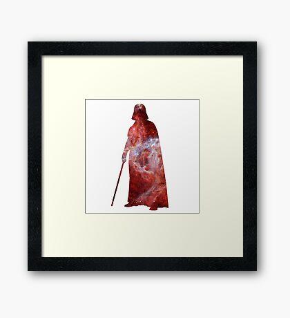 Darth Vader Galaxy Framed Print
