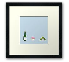 A very impatient Frog Prince Framed Print
