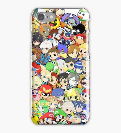 Super Smash Bros. All 58 Characters!! Group iPhone Case/Skin