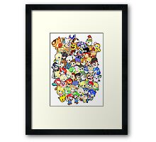 Super Smash Bros. All 58 Characters!! Group Framed Print