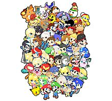 Super Smash Bros. All 58 Characters!! Group Photographic Print