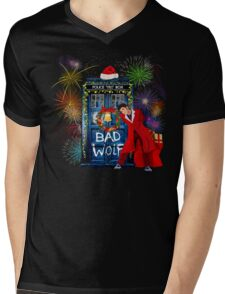 Happy New year from 10th Doctor Mens V-Neck T-Shirt