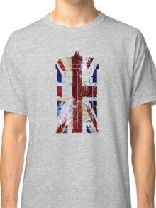 Union Jack TARDIS with Gallifreyan  Classic T-Shirt