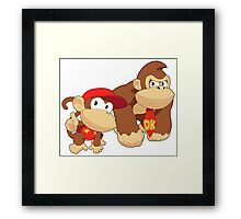 Super Smash Bros. Donkey Kong and Diddy Kong Framed Print