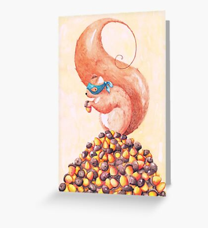 The Bandit Squirrel Greeting Card
