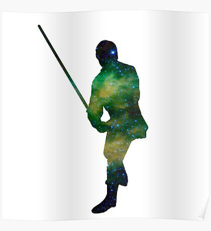 Luke Skywalker Galaxy Poster