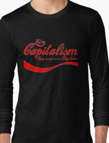 Capitalism - 'Buy Now, Pay Later' Long Sleeve T-Shirt