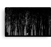 Edward Snowden in the woods Canvas Print