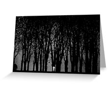 Edward Snowden in the woods Greeting Card