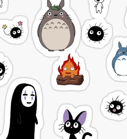 Ghibli cuties Sticker